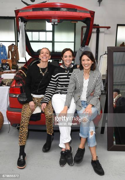 Tiphaine de Lussy Daniela Agnelli and Hikari Yokoyama attend the #SheInspiresMe Car Boot Sale for Women for Women International at Brewer Street Car...