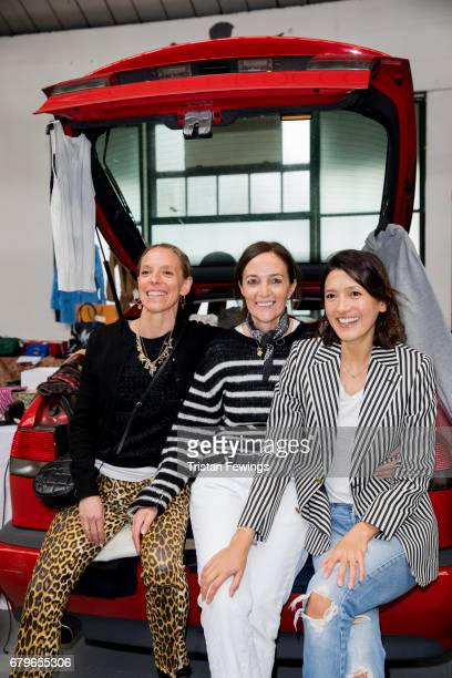 Tiphaine De Lussy Daniela Agnelli and Hikari Yokoyama attend the Women for Women International #SheInspiresMe car boot sale at Brewer Street Car Park...