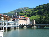 Tipical view of Tolosa in Basque Country
