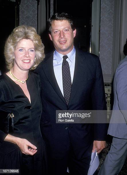 Tipper Gore and Al Gore during 16th Annual Police Athletic League Dinner at Plaza Hotel in New York City New York United States