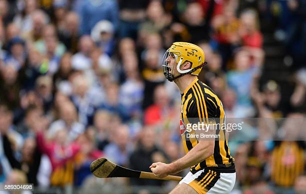 Tipperary Ireland 13 August 2016 Colin Fennelly of Kilkenny celebrates after scoring his side's second goal goal during the GAA Hurling AllIreland...