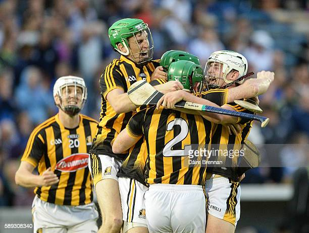 Tipperary Ireland 13 August 2016 Kilkenny players left to right Lester Ryan Joey Holden Shane Prendergast Paul Murphy and Pádraig Walsh celebrate...