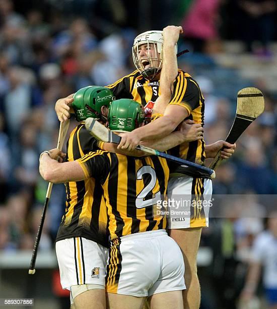 Tipperary Ireland 13 August 2016 Shane Prendergast from left Paul Murphy and Pádraig Walsh of Kilkenny celebrate after the GAA Hurling AllIreland...