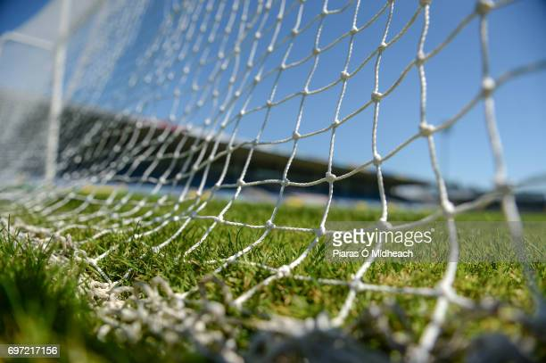 Tipperary Ireland 18 June 2017 A general view of the goalnet before the Munster GAA Hurling Senior Championship SemiFinal match between Waterford and...