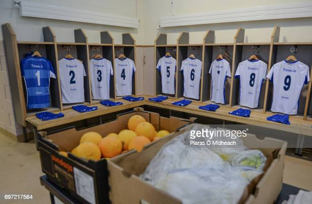 Tipperary Ireland 18 June 2017 A general view of the Waterford jerseys in the dressing room before the Munster GAA Hurling Senior Championship...