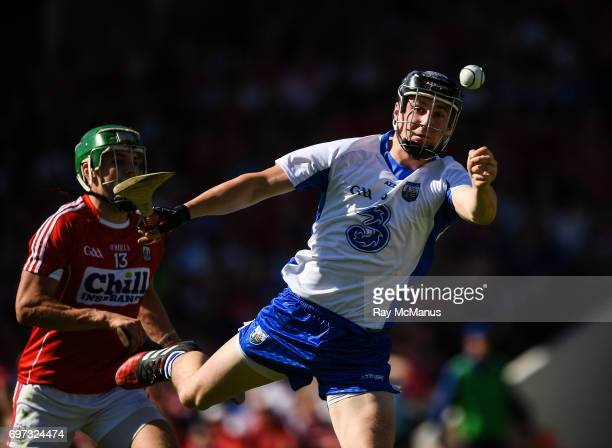 Tipperary Ireland 18 June 2017 Conor Gleeson of Waterford in action against Alan Cadogan of Cork during the Munster GAA Hurling Senior Championship...