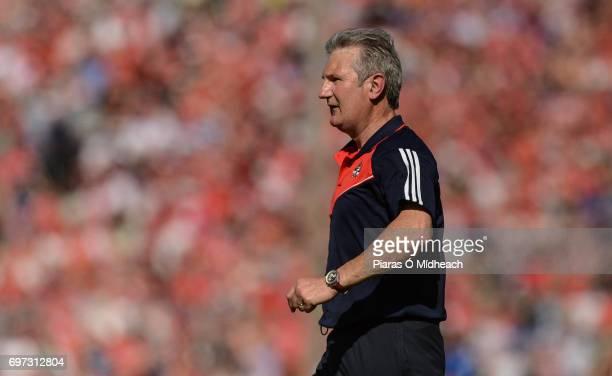 Tipperary Ireland 18 June 2017 Cork manager Kieran Kingston during the Munster GAA Hurling Senior Championship SemiFinal match between Waterford and...