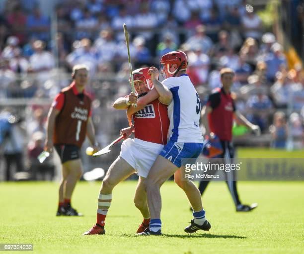 Tipperary Ireland 18 June 2017 Daniel Kearney of Cork in action against Tadhg de Búrca of Waterford during the Munster GAA Hurling Senior...