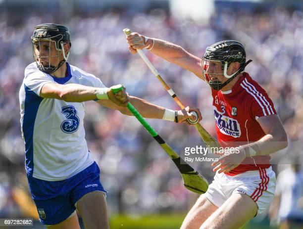 Tipperary Ireland 18 June 2017 Maurice Shanahan of Waterford in action against DamienCahalane of Cork during the Munster GAA Hurling Senior...