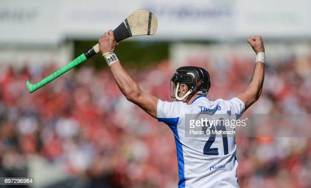Tipperary Ireland 18 June 2017 Maurice Shanahan of Waterford celebrates scoring his side's first goal during the Munster GAA Hurling Senior...