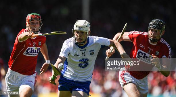 Tipperary Ireland 18 June 2017 Shane Bennett of Waterford in action against Stephen McDonnell left and Barry Coughlan of Waterford during the Munster...