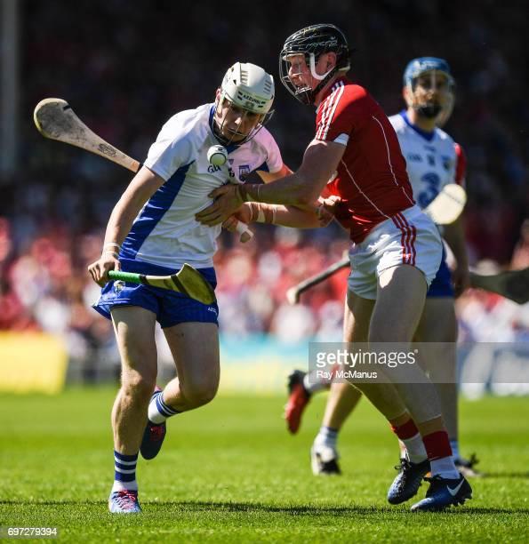Tipperary Ireland 18 June 2017 Shane Bennett of Waterford in action against Damien Cahalane of Cork during the Munster GAA Hurling Senior...