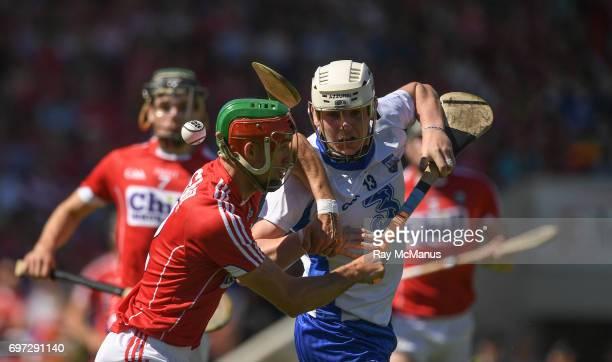 Tipperary Ireland 18 June 2017 Shane Bennett of Waterford in action against Stephen McDonnell of Cork during the Munster GAA Hurling Senior...