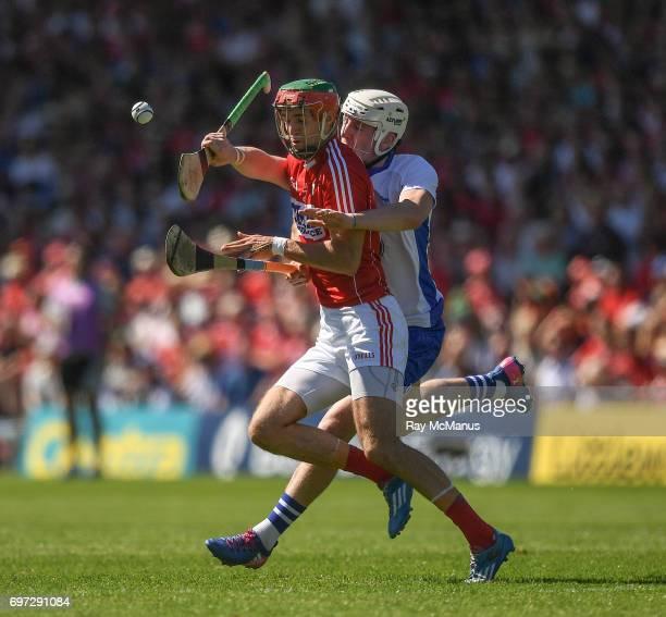 Tipperary Ireland 18 June 2017 Stephen McDonnell of Cork in action against Shane Bennett of Waterford during the Munster GAA Hurling Senior...