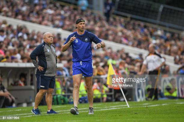 Tipperary Ireland 8 July 2017 Waterfrd selector Dan Shanahan and manager Derek McGrath left during extra time in the GAA Hurling AllIreland Senior...