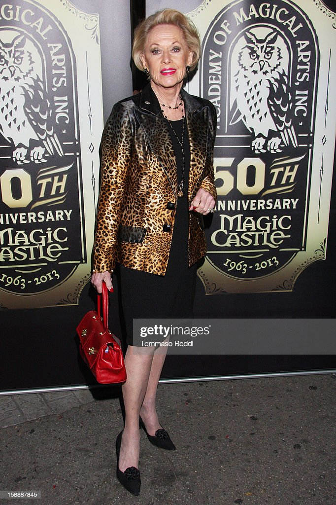 Tippi Hedren attends the Academy of Magical Arts & The Magic Castle 50th anniversary gala held at The Magic Castle on January 2, 2013 in Hollywood, California.