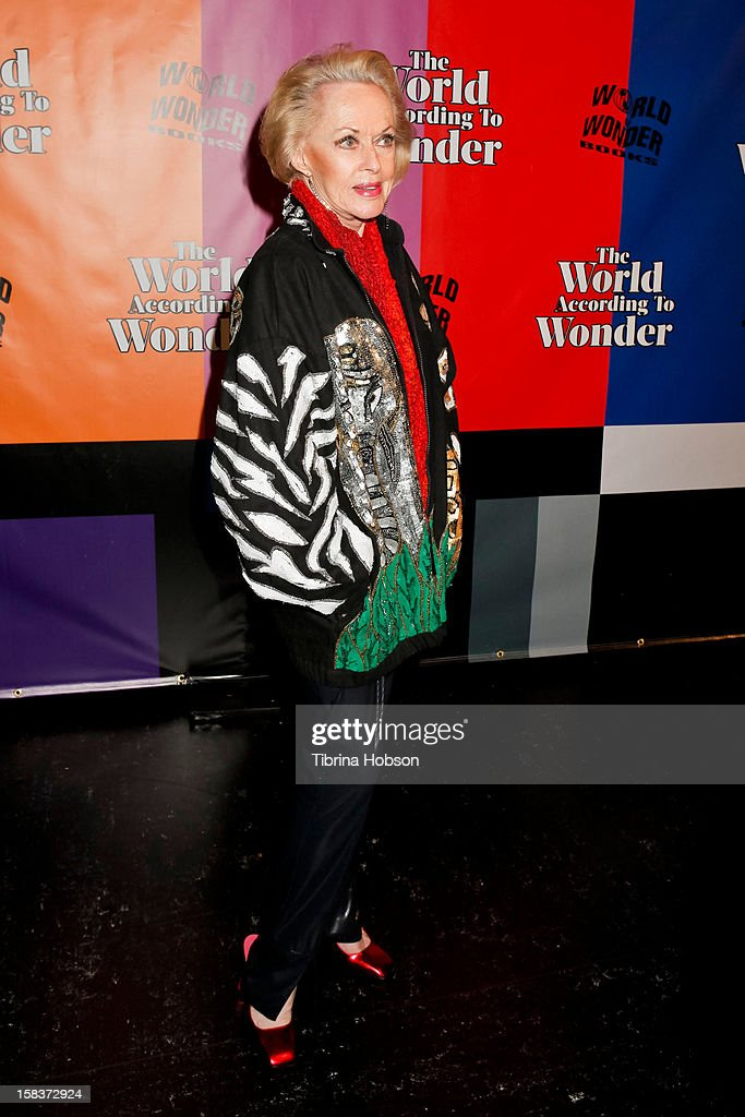 Tippi Hedren attends the 'World Of Wonder' book release party at Universal Studios Backlot on December 13, 2012 in Universal City, California.