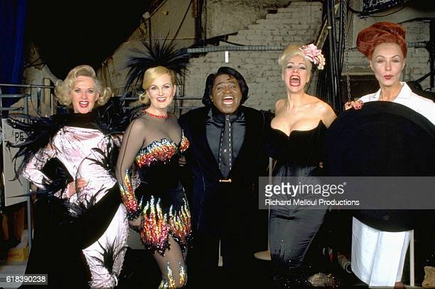 Tippi Hedren Patricia Hearst James Brown and Diane Brill Posing for the Thierry Mugler Fashion Show