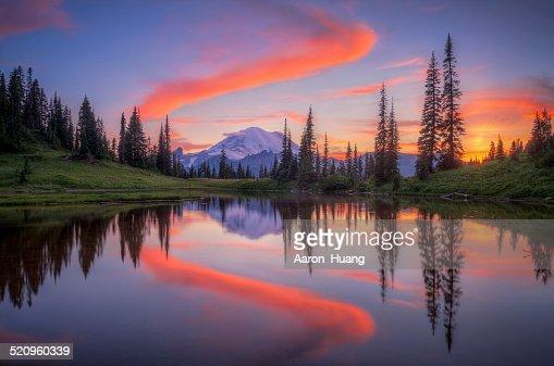Tipsoo Lake : Stock Photo