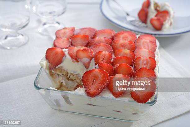 Tiramisu with strawberry
