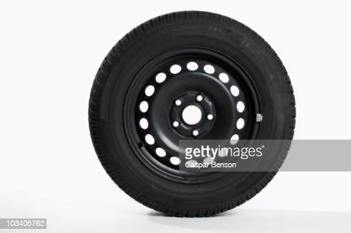 A tire, side view
