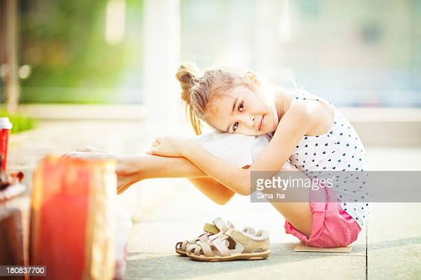 Tired little girl