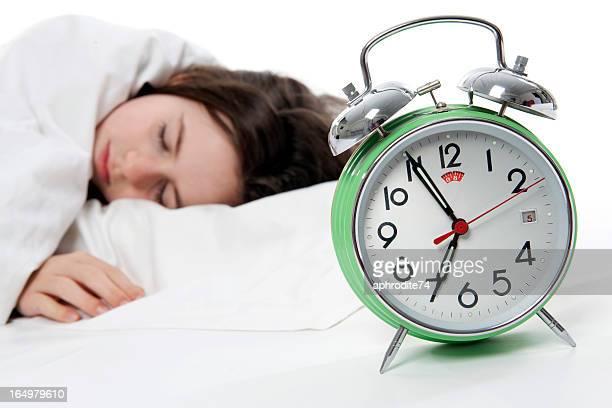 jeune fille dormir au lit photos et images de collection getty images. Black Bedroom Furniture Sets. Home Design Ideas
