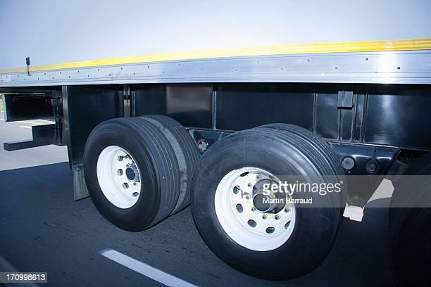 Reifen auf einem semi truck