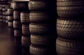 Raws Of Black Tires