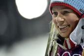 Tiril Eckhoff of Norway wins bronze medal during the Biathlon Women's 125km Mass Start at the Laura Crosscountry Ski Biathlon Center on February 17...