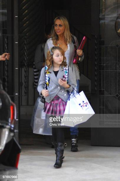 Tish Cyrus and her daughter Noah Cyrus are seen on March 13 2010 in Santa Monica California