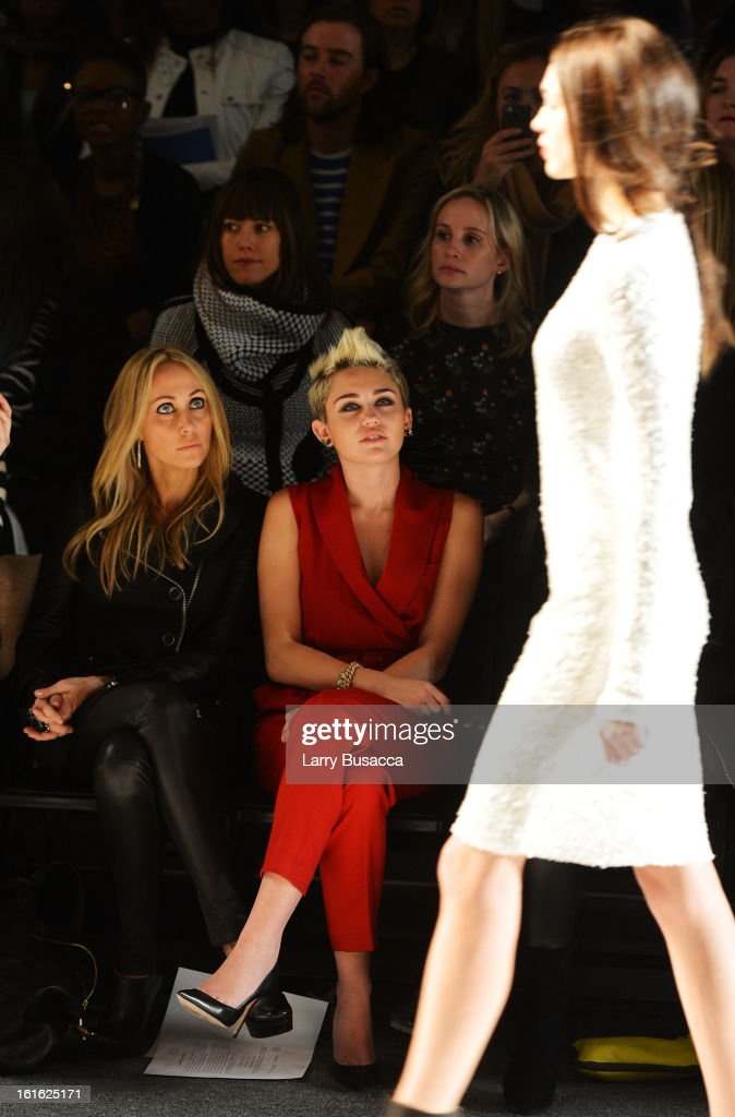Tish Cyrus and <a gi-track='captionPersonalityLinkClicked' href=/galleries/search?phrase=Miley+Cyrus&family=editorial&specificpeople=3973523 ng-click='$event.stopPropagation()'>Miley Cyrus</a> attend the Rachel Zoe Fall 2013 fashion show during Mercedes-Benz Fashion Week at The Studio at Lincoln Center on February 13, 2013 in New York City.