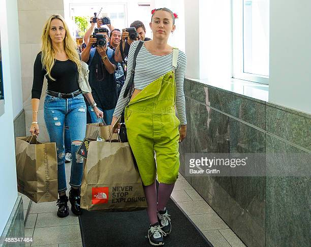 Tish Cyrus and Miley Cyrus seen on September 15 2015 in Los Angeles California