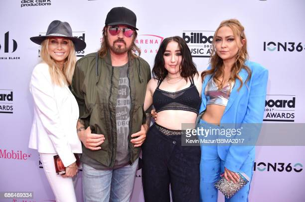 Tish Cyrus singers Billy Ray Cyrus and Noah Cyrus and DJ Brandi Cyrus attend the 2017 Billboard Music Awards at TMobile Arena on May 21 2017 in Las...