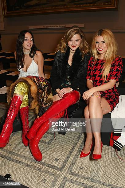 Tish Weinstock Amber Atherton and Paloma Faith attend the Ashish VA Fashion In Motion show at The VA on October 23 2015 in London England