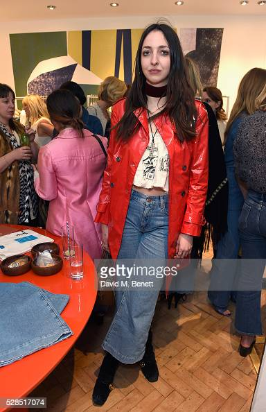 Tish Weinstock attends Mih Jeans' 10th Anniversary Celebration at their popup concept store on Upper James Street on May 5 2016 in London England