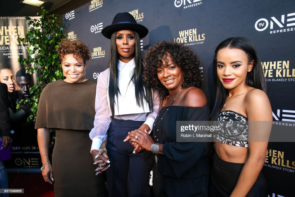 Tisha Campbell, Tasha Smith, Vanessa Bell Calloway and Bianca Lawson attend the LA premiere of TV One's 'When Love Kills' at Harmony Gold on August 22, 2017 in Los Angeles, California.