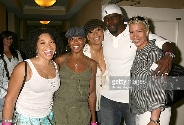 Tisha Campbell Tichina Arnold Jayneoni and Terry Crews and Rebecca Crews