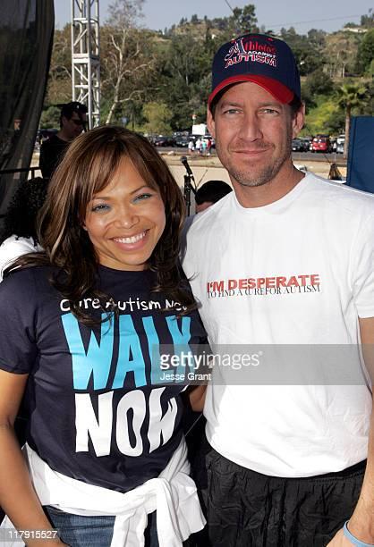 Tisha CampbellMartin and James Denton during 'Walk Now Los Angeles' 3rd Annual 5K Autism Walk at The Rose Bowl in Pasadena California United States