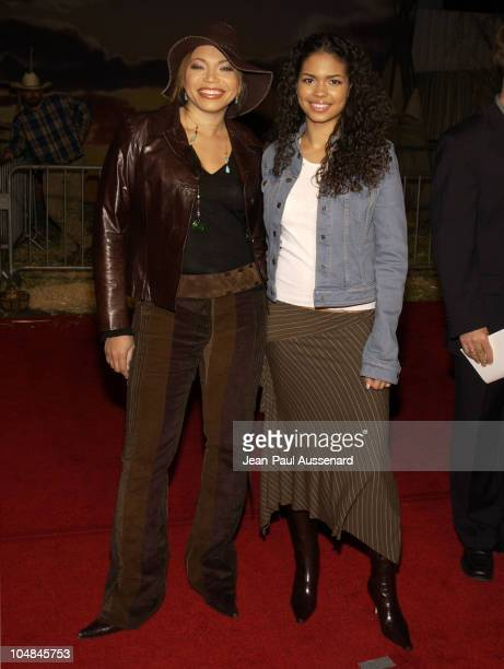 Tisha CampbellMartin and Jennifer Freeman during 'Dreamkeeper' ABC AllStar Winter Party at Quixote Studios in Los Angeles California United States