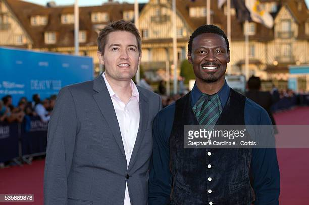 Tishuan Scott and Chris Eska attend the premiere of the movie 'Joe' during the 39th Deauville American Film Festival in Deauville
