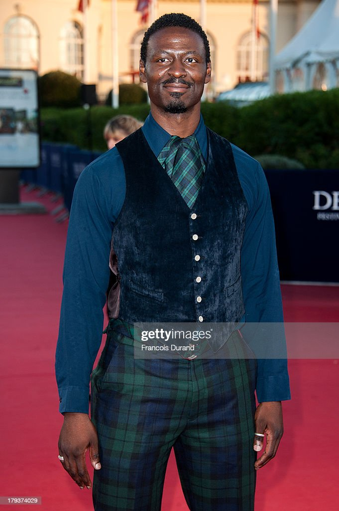 Tishuan Scott arrives at the premiere of the movie 'Joe' during the 39th Deauville American film festival on September 2, 2013 in Deauville, France.
