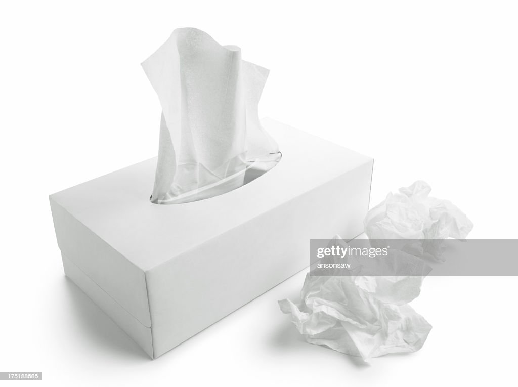 Tissue paper box white background