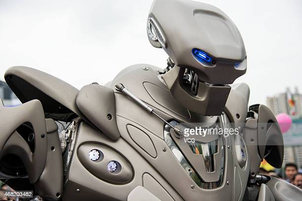 Titan the Robot appears at Shenzhen Convention Exhibition Center on March 31 2015 in Shenzhen Guangdong province of China