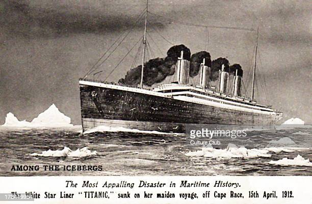 RMS Titanic Launched The White Star Liner afloat Built by Harland Wolff in Belfast Caption reads The most appalling history in maritime history The...