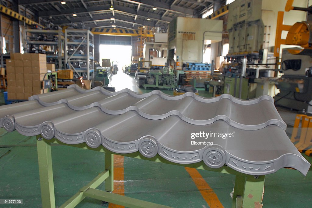 Titanium Roofing Is Produced At The Manufacturing Plant Of Roof Systems  K.K., A Member Company