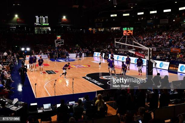 Titanium stadium before the round seven NBL match between Adelaide 36ers and the Sydney Kings at Titanium Security Arena on November 18 2017 in...