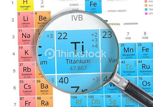 Titanium Symbol Ti Element Of The Periodic Table Zoomed Stock Photo