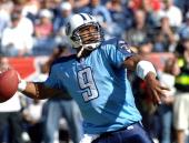 Titans quarterback Steve McNair drops back to pass versus the Oakland Raiders at the Coliseum Nashville Tennessee Oct 30 2005 Oakland won 3425