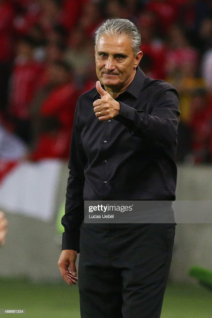 <a gi-track='captionPersonalityLinkClicked' href=/galleries/search?phrase=Tite+-+Braziliaans+voetbalcoach&family=editorial&specificpeople=10072994 ng-click='$event.stopPropagation()'>Tite</a> coach of Corinthians during the match between Internacional and Corinthians as part of Brasileirao Series A 2015, at Estadio Beira-Rio on September 16, 2015, in Porto Alegre, Brazil.